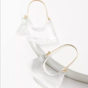 NWT Anthropologie • Glass Hoop Drop Earrings